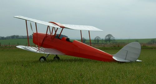 DH82 Tiger Moth - small electric scale range